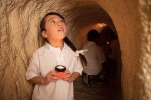 Child in cave